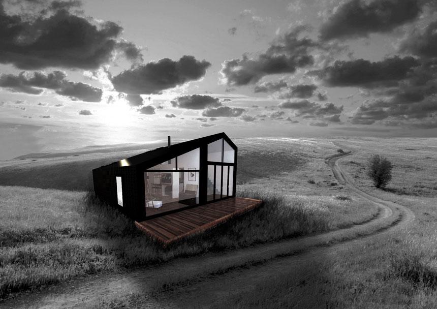 New earth living Black house