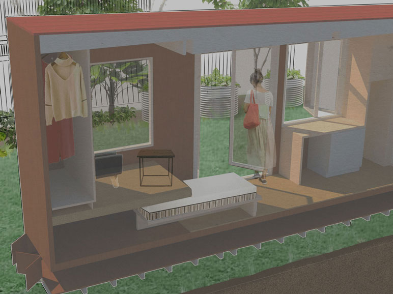 Render Tiny Home Less Campaign