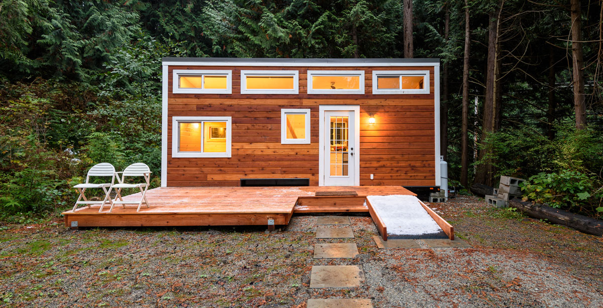 Small wooden cabin house